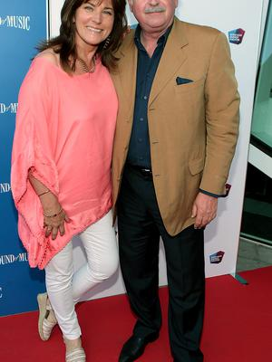 Maria Whelan and Marty Whelan at the  opening night of The Sound of Music at The Bord Gais Energy Theatre Dublin