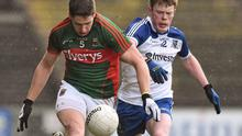 Lee Keegan in action for Mayo during their Allianz NFL clash against Monaghan earlier this month