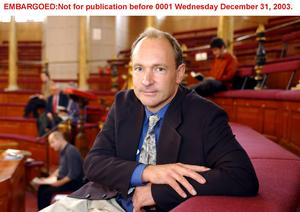Tim Berners-Lee, creator of the world wide web