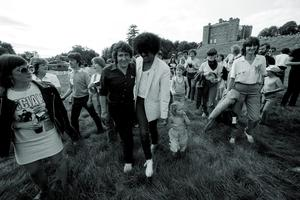 """Phil Lynott of Thin Lizzy at Slane Castle, January 1981. (Photo by Denis O'Regan/Getty Images) """"Whiskey in the Jar"""""""