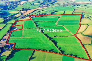 An aerial view of the 73ac holding located at Rossmore, Clonakilty, Co Cork
