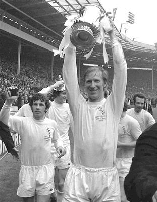 Heroes: Leeds United's Jack Charlton and Johnny Giles after winning the FA Cup in 1972. Photo: PA