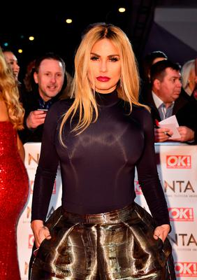 Katie Price attending the National Television Awards 2017 at the O2, London.