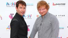 Ed Sheeran and James Blunt arrive for the 29th Annual ARIA Awards 2015 at The Star on November 26, 2015 in Sydney, Australia.  (Photo by Graham Denholm/Getty Images)