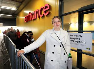 Jalanta Vasiljeva from Swords who was first in the queue for the reopening of the IKEA store in Ballymun.Picture Credit:Frank McGrath 8/6/20