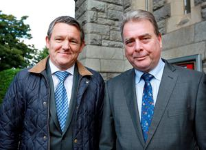 Declan Carlyle, former MD of Independent Newspapers, and Michael Denieffe, former Managing Editor of Independent Newspapers. Photos: Frank McGrath