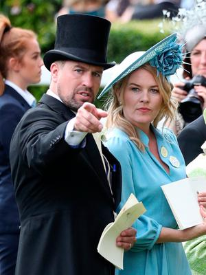Peter Phillips (left) and Autumn Phillips during day five of Royal Ascot at Ascot Racecourse in 2019