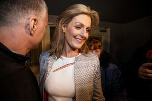 Maria Bailey leaving a Fine Gael meeting yesterday evening in Dún Laoghaire on a motion to review the party's constituency candidates for the next general election Picture: Mark Condren