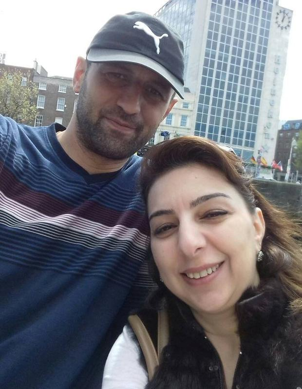 The couple before the incident in a Dublin park 18 months ago