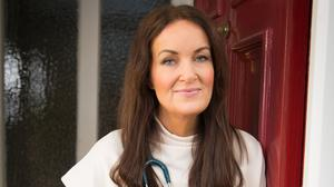 Back in the game: Dr Ciara Kelly at home after beating the virus. Photo: Owen Breslin