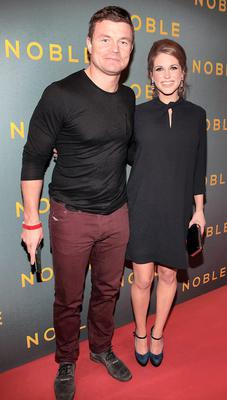 Brian O Driscoll and Amy Hubberman at The Irish Gala Screening of NOBLE  at the Savoy Cinema on O'Connell Street, Dublin Pictures: Brian McEvoy