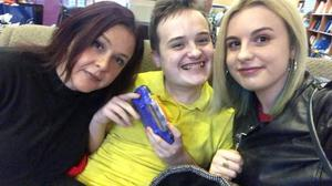Home work: Jane Johnstone with her children Daniel and Ciara (22)