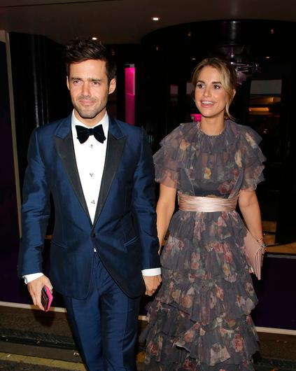 Spencer Matthews and Vogue Williams seen attending British Takeaway Awards at The Savoy on November 12, 2018 in London, England. (Photo by Ricky Vigil M/GC Images)