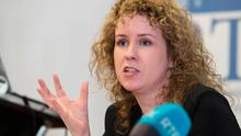 Residential Tenancies Board director Rosalind Carroll speaks at the launch of the report yesterday Photo: Fennell