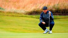 Padraig Harrington lines up on the fifth hole during the final round of the Scottish Open. Photo: Getty Images