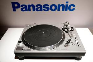 Panasonic's direct drive Hi-Fi turntable is on display during a news conference at CES International Wednesday, Jan. 4, 2017, in Las Vegas. (AP Photo/Jae C. Hong)