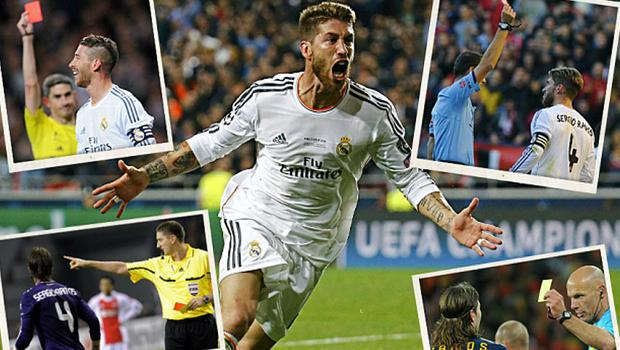 Card happy: Sergio Ramos is not stranger to the disciplinary tightrope Photo: REUTERS
