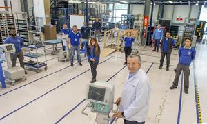 Venture: CEO Sean Sheehan and staff at the Cork plant. Photo: Michael Mac Sweeney/Provision