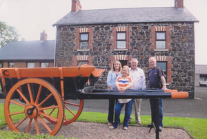 Restored: The old cart that Tom McCaughren's father and his friend William Rodgers built