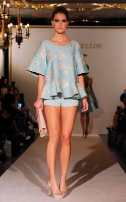 A Model walks the runway at the Paul Costelloe presentation during London Fashion Week Spring/Summer 2016/17 on September 18, 2015 in London, England.  (Photo by Eamonn M. McCormack/Getty Images)