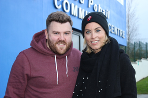 Operation Transformation leader Wayne O'Donnell with presenter Kathryn Thomas.  PIC: RTE