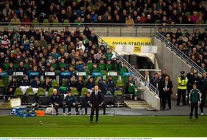 29 March 2015; Republic of Ireland manager Martin O'Neill during the game. UEFA EURO 2016 Championship Qualifier, Group D, Republic of Ireland v Poland. Aviva Stadium, Lansdowne Road, Dublin. Picture credit: Ray McManus / SPORTSFILE