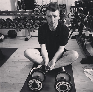 Sam Smith shows off the results of his hard work