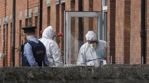 Gardai investigate the discovery of the body of a man in Drumcondra Picture: Arthur Carron