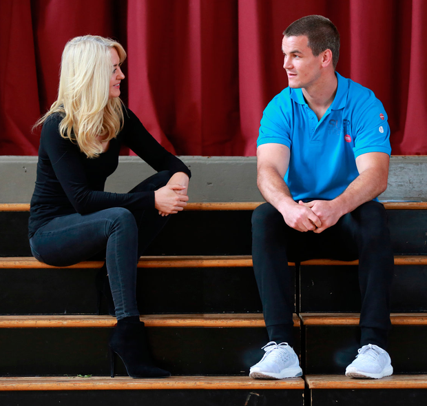 Super trooper: Leinster and Ireland outhalf Johnny Sexton speaking to Niamh Horan about his rugby career Photo: Frank Mc Grath