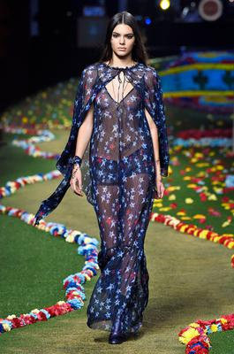 Kendall Jenner walks the runway at Tommy Hilfiger Women's fashion show during Mercedes-Benz Fashion Week Spring 2015