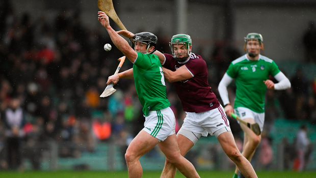 Darragh ODonovan of Limerick in action against Adrian Tuohy of Galway. Photo by Diarmuid Greene/Sportsfile