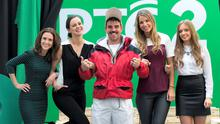 Andy Quirke (Damo) with, from left, Maia Dunphy, Hilary Rose, Vogue Williams and Diana Bunici at the RTE2 new season launch in Dublin