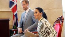 Prince Harry, Duke of Sussex and Meghan, Duchess of Sussex attend a meeting with Tonga Prime Minister Akilisi Pohiva (not in picture) on October 26, 2018 in Nuku'alofa, Tonga. The Duke and Duchess of Sussex are on their official 16-day Autumn tour visiting cities in Australia, Fiji, Tonga and New Zealand. (Photo by Phil Noble - Pool/Getty Images)