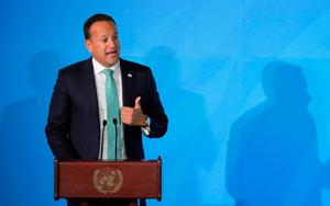 Leo Varadkar was accused of 'showboating' at the UN. Photo: REUTERS/Lucas Jackson