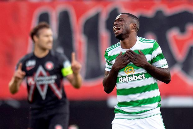 Celtic have been eliminated from the Champions League. Bo Amstrup/Ritzau Scanpix via REUTERS.