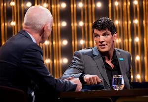 Ray D'Arcy with Donncha O'Callaghan on the first The Ray D'Arcy Show. Picture Andres Poveda