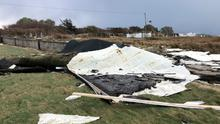 Ferocious gusts ripped the roof of Dooagh National School in Achill, Co Mayo