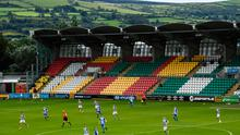 How Tallaght Stadium will look for the visit of AC Milan to face Shamrpck Rovers on September 17.