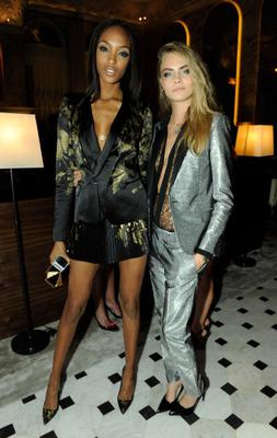 LONDON, ENGLAND - SEPTEMBER 14:  (L-R) Jourdan Dunn and Cara Delevingne attends The London Edition opening celebrating the September issue of W Magazine at The London Edition Hotel on September 14, 2013 in London, England.  (Photo by David M. Benett/Getty Images for The London Edition)