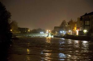 High tide in Galway this morning, January 4. Pic Andrew Downes