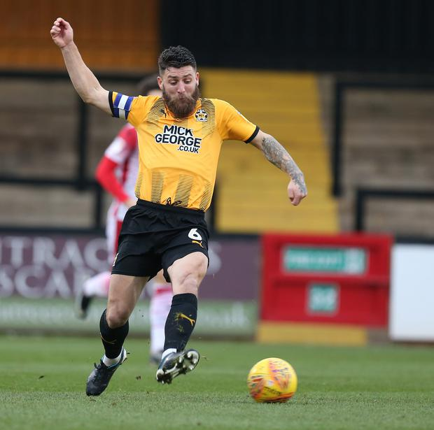 Cambridge United's Gary Deegan in action during a League Two match last year