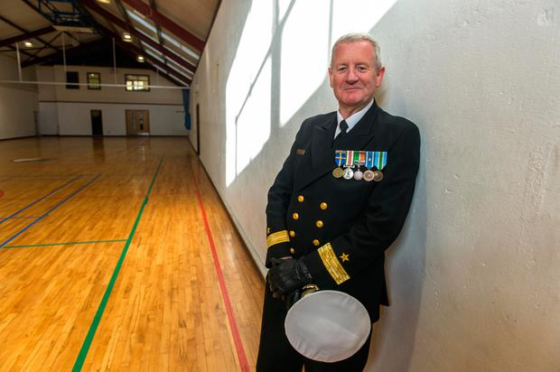 Commodore Hugh Tully stood down as Flag Officer commanding the Naval Service. Photo: Michael Mac Sweeney/Provision