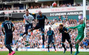 Toby Alderweireld heads Tottenham into the lead just after half time