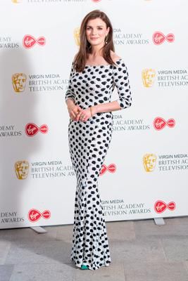 Aisling Bea arrives for the Virgin Media BAFTA TV awards at the TV Centre, Wood Lane, London. Due to the coronavirus pandemic the ceremony is being held behind closed doors with all nominees participating over video call: Dominic Lipinski/PA Wire