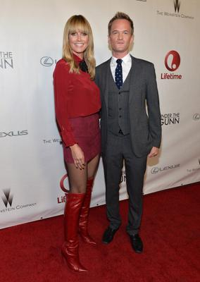 """LOS ANGELES, CA - DECEMBER 16:  Model Heidi Klum and actor Neil Patrick Harris attend the """"Under The Gunn"""" Finale Fashion Show at Los Angeles Theatre on December 16, 2013 in Los Angeles, California.  (Photo by Alberto E. Rodriguez/Getty Images)"""