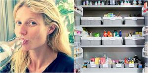 Gwyneth Paltrow has given fans a glimpse inside her perfectly organised fridge. Pic: The Home Edit / Instagram