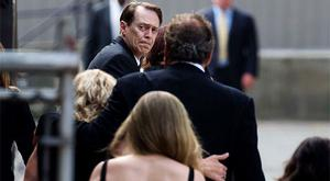 Actor Steve Buscemi arrives for the funeral service of James Gandolfini at the Saint John the Divine Cathedral in New York