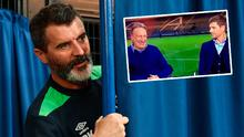 Roy Keane and (inset) Gerrard gives Neil Warnock the death stare