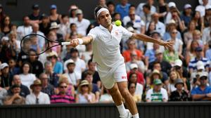 Switzerland's Roger Federer in action during his semi-final match against Rafael Nadal. Photo REUTERS/Tony O'Brien