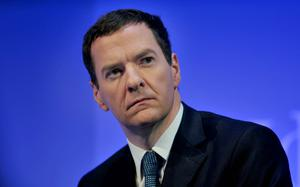 George Osborne who suffered a fresh blow today as the six-year squeeze on earnings growth was blamed for the latest official figures showing a widening hole in the public finances. Photo: PA